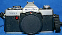 Minolta 35mm XG-1 Camera w/ 2 Lenses, Flash & Bag. Tested & works