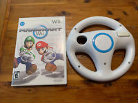 Mario Kart Nintendo Wii Complete CIB Manual Genuine OEM Racing Steering Wheel