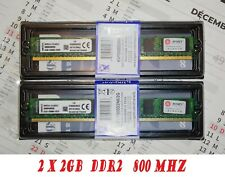 KIT DDR2 KINGSTON KVR 2 x 2Go Mémoire RAM pc2-6400 800mhz DIMM 240 pin PC Bureau