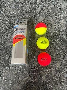 Srixon Divide Tour Two Coloured, b-coloured Golf Ball Orange & Yellow