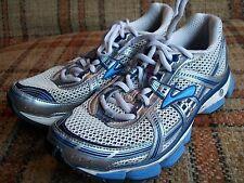 Brooks Womens Size 7 Medium B (UK 5) EU 38 Trance Blue Silver White Runnng Shoes