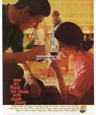 1961 PEPSI-COLA Enjoy At The Bowling Alley Vtg Print Ad