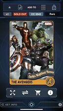 Topps Marvel Collect Digital - Retro Avengers Set With Award