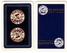 Pair Vintage Players Navy Cut = Linen Swap Playing Cards