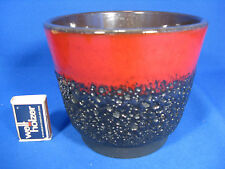 70´s design Fat Lava Keramik / pottery  flowerpot Blumen Übertopf planter 13,5