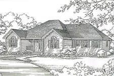 3 Bdrm 2 Bath 1780 SF Hip Roof Ranch / 2 Car Garage Under House Building Plans