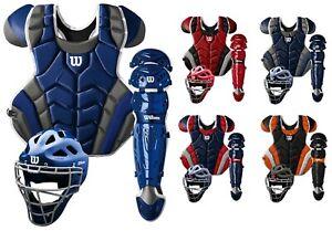 Wilson C1K Pro Stock Adult Baseball Catcher's Gear Set Kit