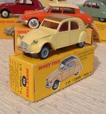 Superbe Vraie Dinky toys France Citroen 2CV 558 grandes roues + boite origine
