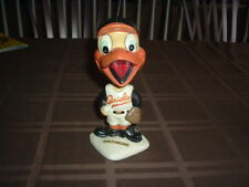 1960's Bobble Head Nodder Baltimore Orioles Mascot White Base 2nd Year TOUGH!