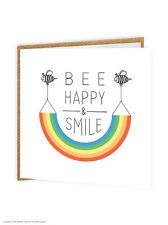 Brainbox CANDY drôle Comédie Humour' abeille Happy et sourire'RAINBOW Birthday