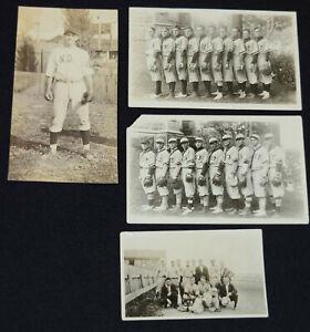 1920-1930 - QUEBEC BASEBALL - POSTCARDS /PHOTOS (4) - ORIGINAL