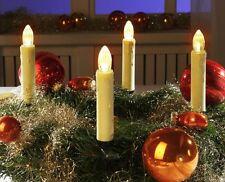 15er-Set Kabellose LED Weihnachtskerzen Lichterkette Christbaumkerzen Kerze XM27