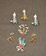 7  Designer Fine  Fashion Christmas Pins /Brooches    By Gerry