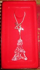 Lenox Full Lead Crystal Ornament Lariat Tree - Silver Detail Made in Germany Nib