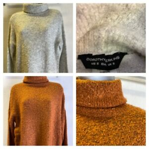 DOROTHY PERKINS Ladies Soft Feel Roll Neck Jumper Sizes S-XXL - 2 Colours