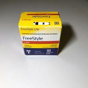 100 Freestyle Lite Diabetic test strips EXP 03/31/2023