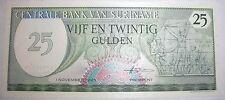 1985 Suriname 25 gulden banknote