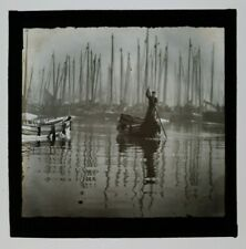 More details for 1900s magic lantern slide forest of boat masts scarborough yorkshire