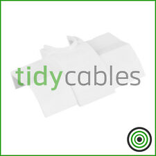 D-Line 22x22mm Quadrant TV Floor Cable Tidy - Cable Inlet Connector