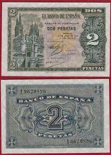 ESPAÑA 2 PESETAS año 1938. Serie I. Nº 9620896. Catedral de Burgos. PLANCHA.