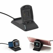 USB Charging Cradle Dock Charger&Stander Holder For Fitbit Blaze Tracker Phone