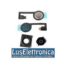 TASTO HOME NERO IN PLASTICA CON SILICONE + PULSANTE TASTO HOME PER IPHONE 4S