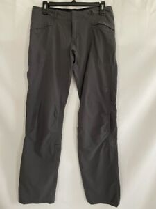 The North Face Womens Hiking Pants Gray Stretch Flat Front Mesh Pockets 4
