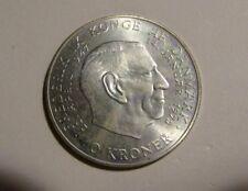 Denmark 1972 10 Kroner Unc Silver Coin
