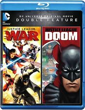 JUSTICE LEAGUE - WAR & JUSTICE LEAGUE - DOOM  -  Blu Ray - Sealed Region free