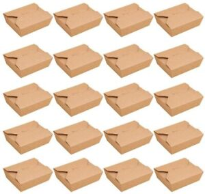 Food Storage Containers Kraft Paper Take Out Boxes Restaurants Catering Parties