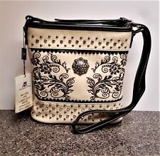 Montana West Silver Concho Concealed Carry Crossbody Bag American Bling Purse