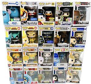 Lot of 20 Funko Pops Venomized Ghost Rider Scrooge Marvel DBZ Box Damage Sale