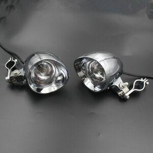 Motorcycle LED Passing Spot Light Fog Light Headlight+25mm-35mm Guard Bar Clamp