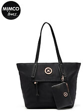 Authentic MIMCO Splendiosa Tote Shopper Bag black with removable wristlet new