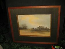 Rom H. Original Water Color Asian Farmer W/ Oxen Framed