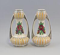 8345057 Paar Jugendstil Vasen Amphore Keramik