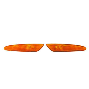 For Mercedes-Benz W211 E-Class Left&Right Marker Light Bumper Turn Signal Amber