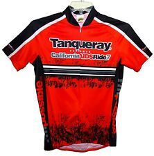 Sz S CALIFORNIA AIDS RIDE 7 Bicycle Jersey Red/Black 100% Poly by Ride Rags USA