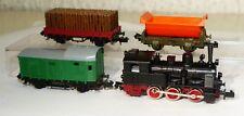 4 pzas. Arnold colección: t3 máquina de vapor con 3 vagones pista n