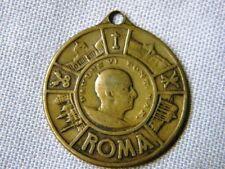 ANTIQUE METAL MEDAL POPE PAULUS VI ROME ST CHRISTOPHER