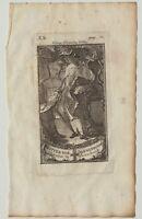 Ritter vom DANNEBROG Orden Original Kupferstich um 1780 König ADEL Dänemark