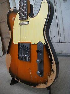 Tele  Custom Relic Sunburst Electric  Guitar