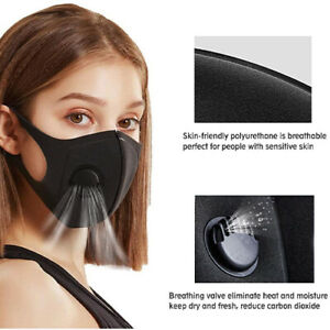 Face Mask Air Flow Valve Breathable Reusable Washable Face Safety Protection
