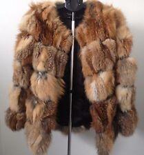 SALE L - XL  Impressive  jacket   coat real fox fur and leather