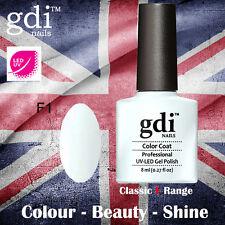 UK SELLER Gdi Nails CLASSIC Range F01 UV/LED Gel Soak Off nail polish