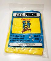 Opryland Music Theme Park Vinyl Poncho Vintage Nashville Tennessee