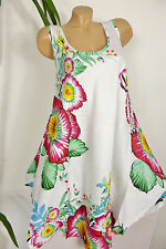 edf93d1cde82 Sommer Kleid Strandkleid Tunika Hippie weites A-Form Gr. 44 46 Rot Pink