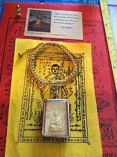 Buddha Amulet Meditation Pendant #19 Toh Stainless Case Free Heaven Bracelet