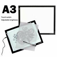 LED Light Tracing Box Design Tattoo Stencil Artist Drawing Lightbox Pad Board A3