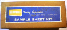 HERCULES Packing Corp ASBESTOS Gasket Sheet Samples Military Specifications 60's